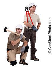 A team of labourers