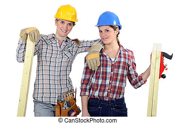 A team of tradeswoman