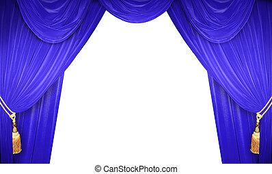 a, teatro, é, abertos