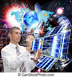 a, technológia, internet