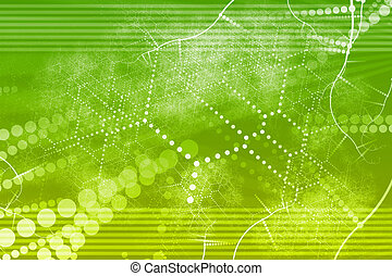 Technology Industrial Network Abstract
