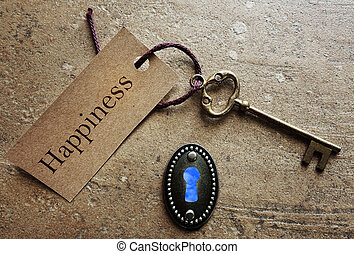 a, tecla, para, felicidade