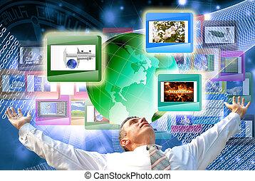 a, tecnologia, internet