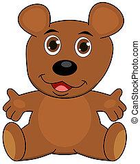 a teddy bear, open arms