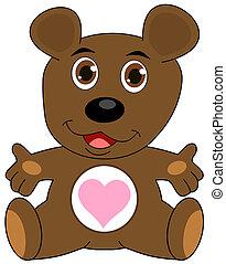 a teddy bear open arms