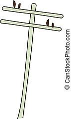 A telephone pole