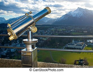 A telescope for observation of Salzburg city.
