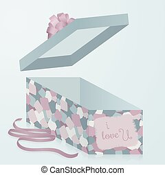 A template gift box with patchwork