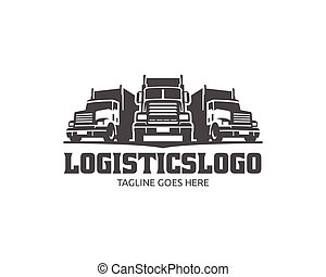 Truck Logo, cargo logo, delivery cargo trucks, Logistic logo...