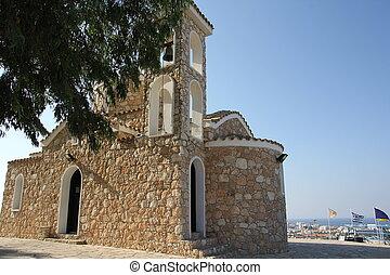 a, templom, közül, a, jós, elias, alatt, protaras, ciprus