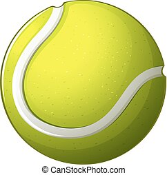 A tennis ball - Illustration of a tennis ball on a white...