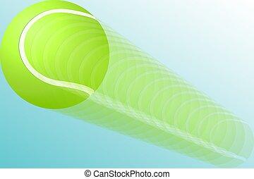 A tennis ball in flight. eps10