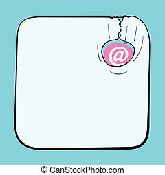 A text box for fill your text and email icon
