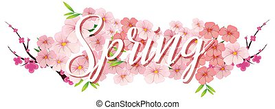 A text letter of spring