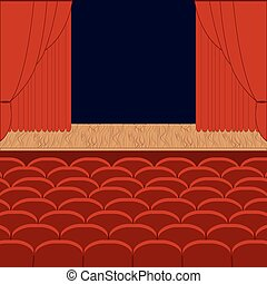 A theater stage