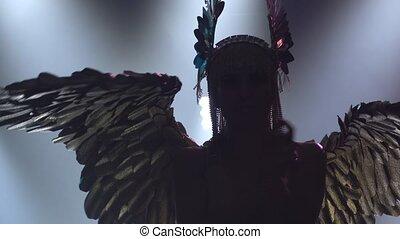 A theatrical performance featuring the Greek goddess Artemis...