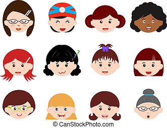 Girls, Woman, Kids (Female Set)