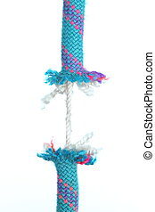 thin risky rope - a thin risky rope with white background