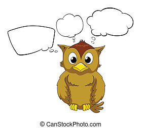 A thinking owl