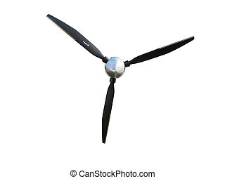 three blade prop - A three blade propeller isolated on white...