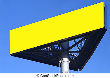 sign - a three-cornered ikea sign and blue sky