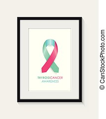 A thyroid cancer awareness frame