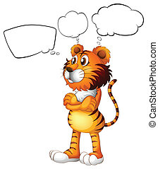 A tiger thinking