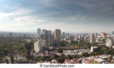 a time-lapse of the mexico city skyline