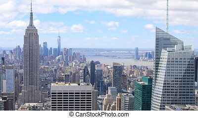 Timelapse aerial of Manhattan, New York - A Timelapse aerial...