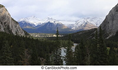 Timelapse by the Bow River in Banff, Canada