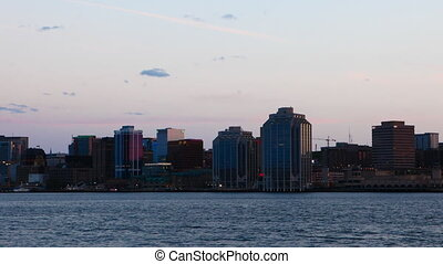 Timelapse Halifax, Canada skyline day to night - A Timelapse...