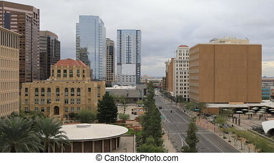 Timelapse looking down on Phoenix downtown - A Timelapse...