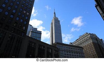 A Timelapse of midtown Manhattan area