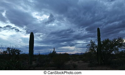 Timelapse of nightfall in Tucson Mountain Park - A Timelapse...