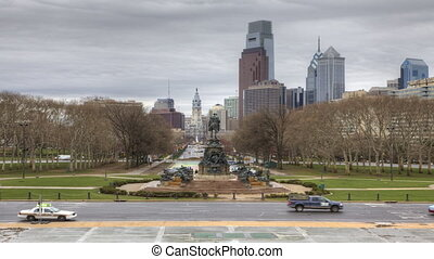 Philadelphia from the Museum of Art - A Timelapse of...