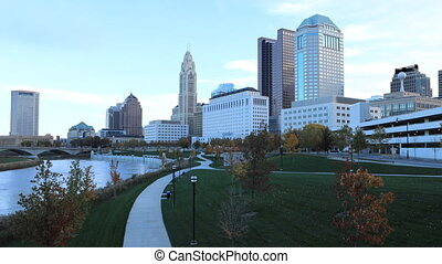 Timelapse of the Columbus, Ohio skyline - A Timelapse of the...