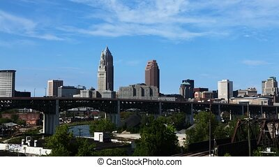 Timelapse of the skyline of Cleveland, Ohio - A Timelapse of...