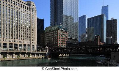 Timelapse the Riverwalk in Chicago, Illinois
