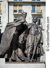a, tisza, estátua, em, budapest