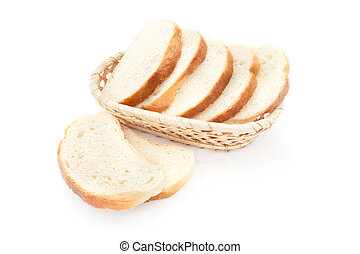 A toasted bread slices for breakfast isolated