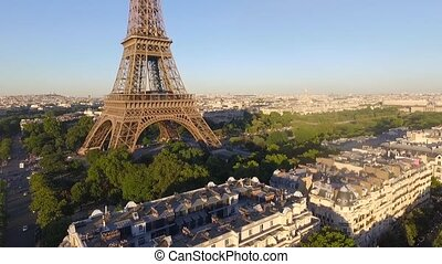 a top view of the Eiffel Tower