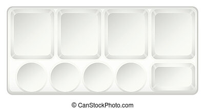 A topview of a container