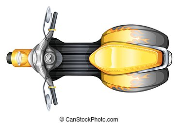 A topview of a scooter - Illustration of a topview of a ...