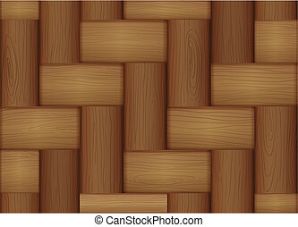 A topview of a wooden tile