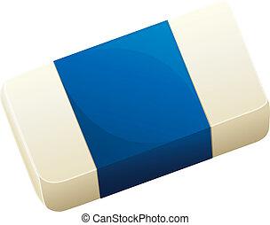 A topview of an eraser