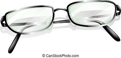 A topview of an eyeglass
