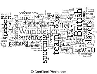 A Torrid Summer For British Sport text background wordcloud concept