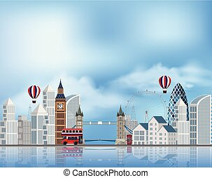A Tourist Attraction in London illustration