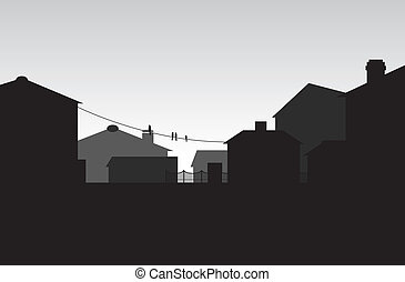a townscape background