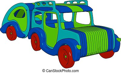 A toy car cartoon vector or color illustration